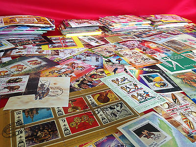 Worldwide Foreign Souvenir Sheets Stamp Collection Lot // 8 DIFFERENT SHEETS 2