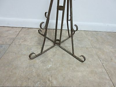 Antique Wrought Iron Scroll Flag Pole Music Stand Ceremonial 7