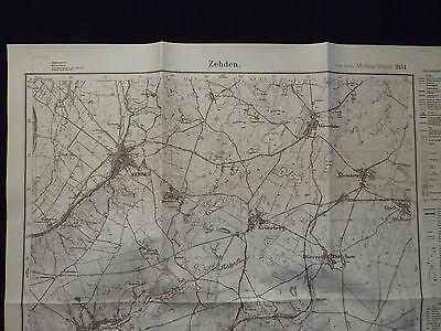 Landkarte Meßtischblatt 3151 Zehden / Cedynia i.d. Neumark, Krs Königsberg, 1945
