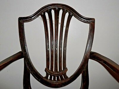 Antique Hepplewhite Carver Style Dining Chair Project 4