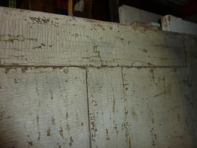 """LATE 18th century ANTIQUE colonial FOUR panel DOOR paint PATINA 78 x 35"""" x 1.25 9"""