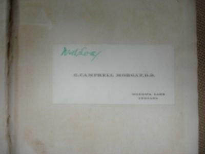 The Ministry of the Word with inscribed business card - 1919