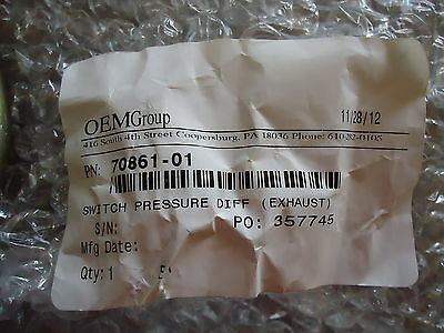 New Dwyer Inst. Cat.# 1910-00(Oem Group) P/n 70861-01 Switch Pressure Diff.(Exha 2