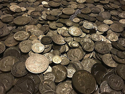 ✯1 Ounce OZ 90% SILVER US COINS $✯OLD ESTATE SALE LOT HOARD✯ BULLION +FREE GOLD✯ 10