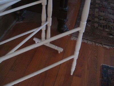 Antique Wood Quilt Rack Center Section & Two Outside Movable  Arms 4