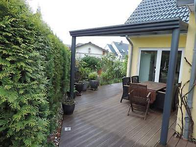Terrassendach Alu 8 mm VSG matt Terrassenüberdachung 10 m breit Glas Carport