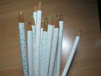 18 Multicoloured Mixed in one Colour Round Pencils Kids Student Children p#2 4