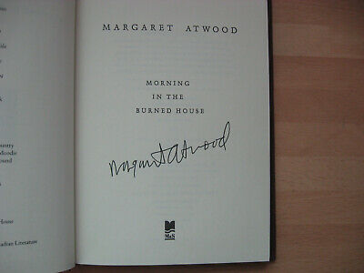 Margaret Atwood Morning in the Burned House Signed 1st poems Booker Prize Winner 2