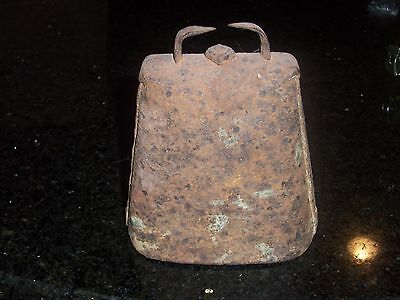 Antique Cow Bell - Medium- 5 inches in height - Forged and Riveted 4