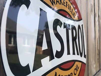 "Castrol Metal Sign Motor oil Garage Shop racing Mechanic advertising 4x12/"" 50149"