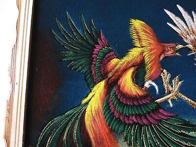 "ROOSTERS,PELEA DE GALLOS VELVET PAINTING,18"" BY 22""W, GIRO ,COLORADO, Palenque 3"