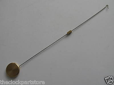 Pendulum for silk suspension clock with wire hook and brass bob & block. NEW 4