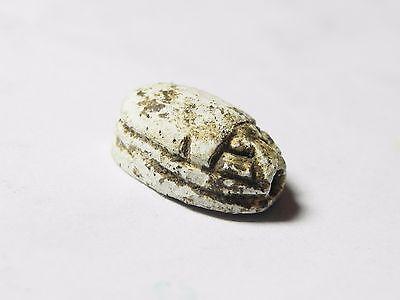 Zurqieh -Af516- Ancient Egypt , New Kingdom Stone Scarab. 1400 B.c 4