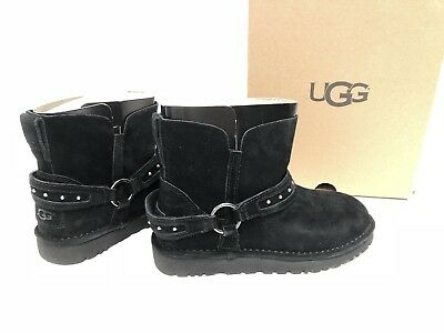 Details about UGG Australia AILIYAH BLACK SUEDE STUDDED ANKLE WOMEN'S BOOTS 1019943