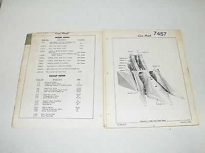 Ford Two Row Corn Head Model 17-4 For Self Propelled Combine 17-1 Parts Catalog