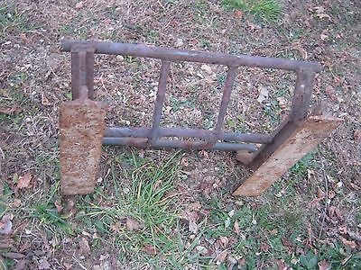 Vintage Primitive Rustic Rusty Handmade Welded Fireplace great for decor 6