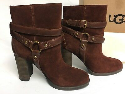16628fde9b3 UGG AUSTRALIA DANDRIDGE Ankle Boot Mahogany Women's 1019010 Heels Booties