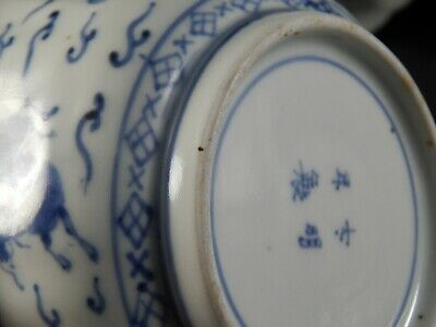 Set Four Antique Japanese Imari Scalloped Rim Bowls Four Character Marks 19th C 2