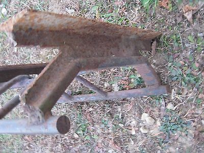 Vintage Primitive Rustic Rusty Handmade Welded Fireplace great for decor 9