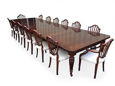 14.9ft Antique Grand Victorian Walnut dining table. 1831-1901 2
