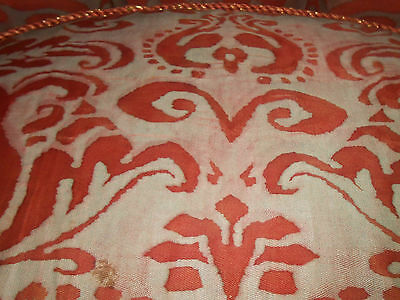 STUNNING Pair Vintage Fortuny Chairs Upholstered Corone Fabric Down Fill Tufted 7