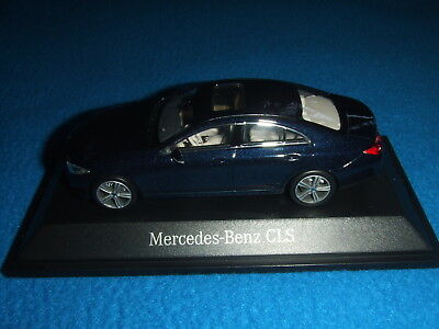 Original Mercedes-Benz Modellauto CLS Coupé C257 cavansit blau blue 1:43 NEU