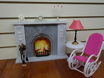 Gloria,Barbie Size Doll House Furniture/(96006) Fire Place Play Set 3