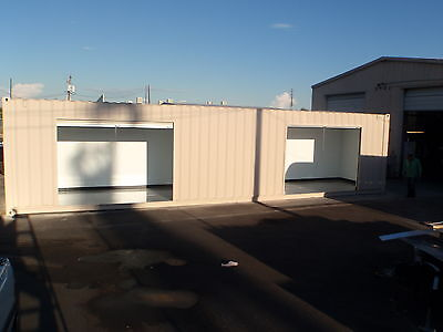 Shipping Container Portable Storage building with four roll up doors 3
