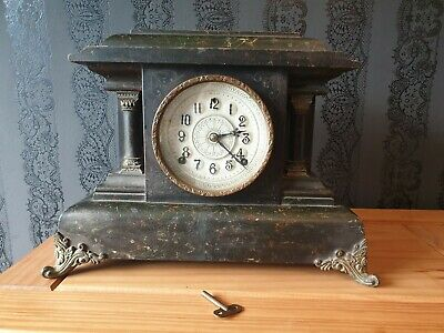 19th Century Anerican Mantle Clock - William Gilbert & Co. 4