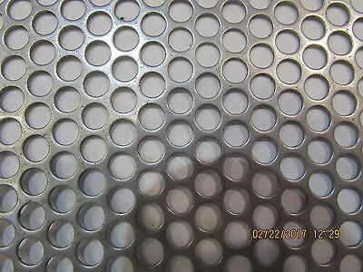 """Perforated Metal Aluminum Sheet .062 1//16/"""" Gauge 12/"""" x 24/""""  3//4/"""" hole 1/"""" Stagger"""
