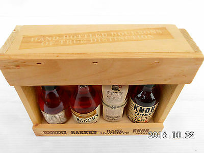 Jim Beam Small Batch Miniature Set In Timber Cabinet -Features Round Knob Creek! 3