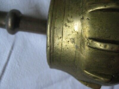 Bronze Mörser o. Messing Mörser   Stößel Rippenmörser Pistill 9