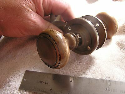 Vintage Antique Ornate Door Knob Set and face plates 7