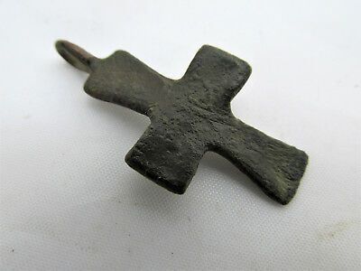 Authentic Antique Byzantine Bronze Cross circa 9th - 12th century CR11