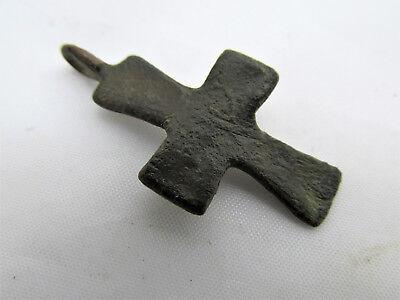 Authentic Antique Byzantine Bronze Cross circa 9th - 12th century CR11 6