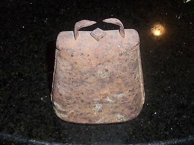 Antique Cow Bell - Medium- 5 inches in height - Forged and Riveted 5