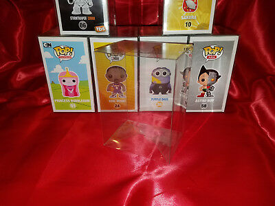 100 FUNKO POP! PROTECTORS PREMIUM QUALITY 0.40mm THICK! Crystal Clear! Acid-Free 3