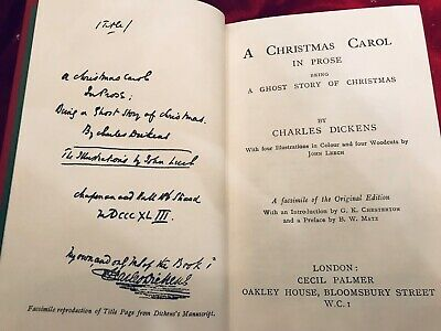 Dickens, A CHRISTMAS CAROL - Top Quality Facsimile of 1843 1st Edition 4