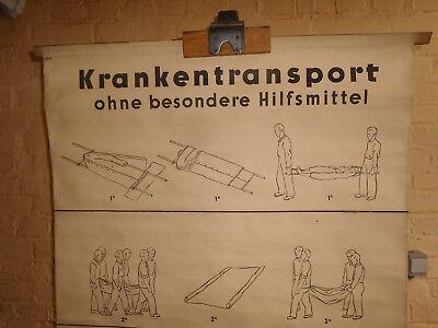 1x Krankentransport /Lehrtafel (1563), gebr.Logo Deut. Hygiene. Museum Dresden