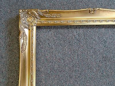 picture frame vintage brightdk gold antique ornate classic baroque 678g 18x24