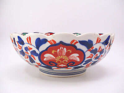 Japanese Imari Scalloped Bowl 5