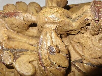 1900s Architectural Wood Corbel redefine wall fixing Carved bird Elephant trunk 3