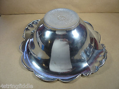 "Large LENOX Pewter Salad Serving Bowl Olive Branch Pattern 15"" Diameter Polished"