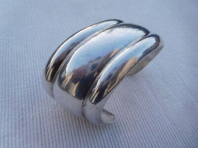 Superbe Bracelet Jonc En Argent Massif Veritable 925 54 Grammes Nb27