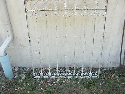 Antique Victorian Iron Gate Window Garden Fence Architectural Salvage #780 4