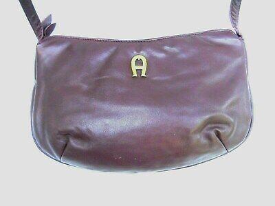 Details about  /Etienne Aigner Vintage Classic Dark Burgundy Leather Small Shoulder Crossbody