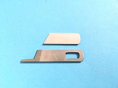 2Pcs Steel Overlocker BLADE Ober und Unterteil für Sänger 14U 544 554 654