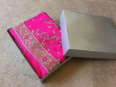 Saree- Bollywood Fashion Wedding Party Wear Heavy Designer Sari Indian Asian 10