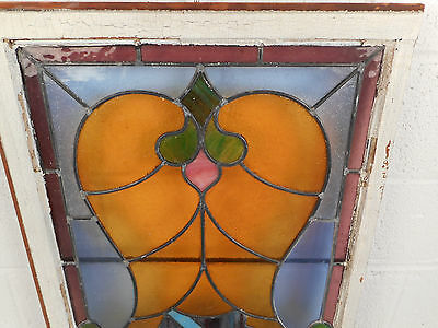 Vintage Stained Glass Window Panel (3089)NJ 7