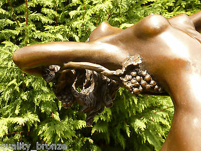 Curvaceous, Art Deco, Vine  Signed, Naked Bronze Statue Figurine  Figure